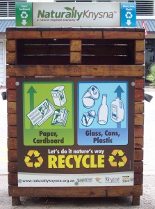Naturally Knysna recycling bins