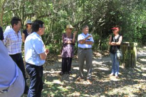 Dr Kevin Winter addressing the group in Pledge Nature Reserve Photo: Sue Brandt